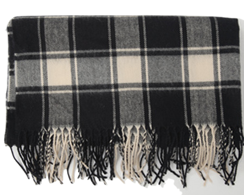Winter check wide muffler_Y (size : one)