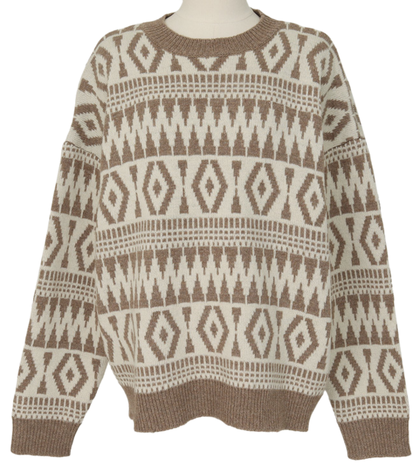 Ethnic wool round knit_C (램스울 50%) (size : free)