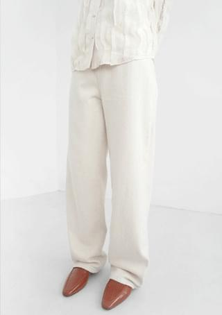 fluffy basic cotton pants (3colors)