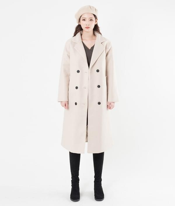 Double button wool coat