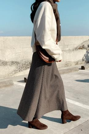 Rene Check Long Skirt-Small skirt