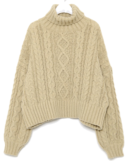 grace cable turtleneck knit