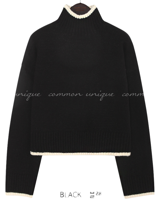 MORING COLORING HIGH NECK KNIT