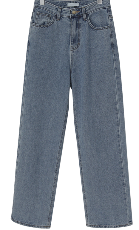 Wide long denim pants_J