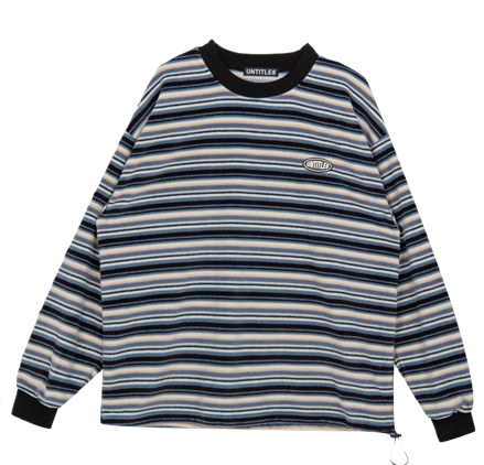Fleece Stripe Sweat Shirt