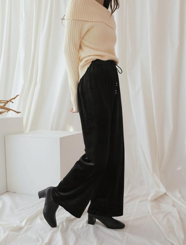 Warm Velvet Banding Pants _Y