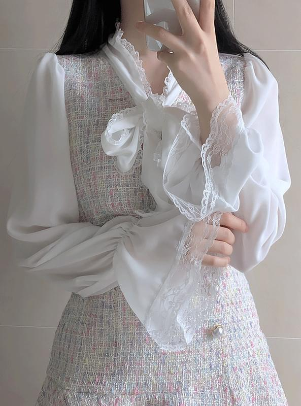 ♥ Chane tweed blouse blouses