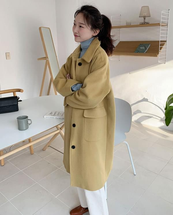 ange soft wool single coat coat
