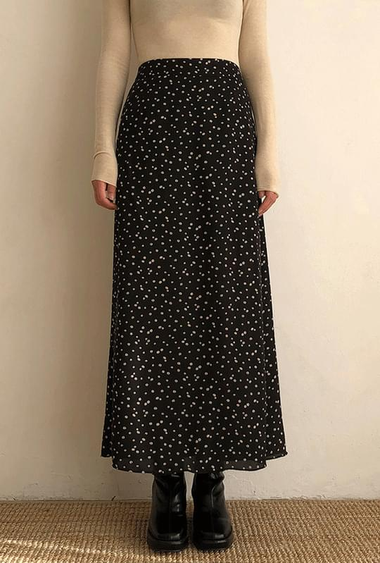 Back bending flower long skirt