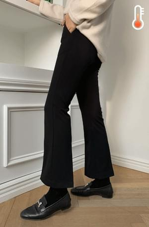 Side zipper bootcut crop slacks