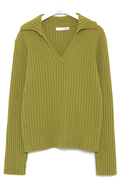 some v-neck wool collar knit knitwears