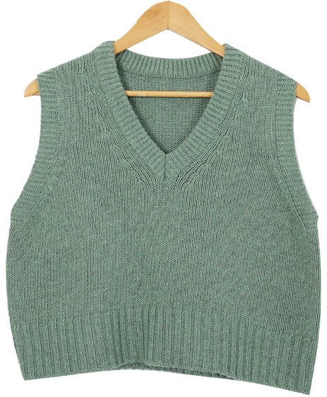 Semi-Crop Rams Wool Vest