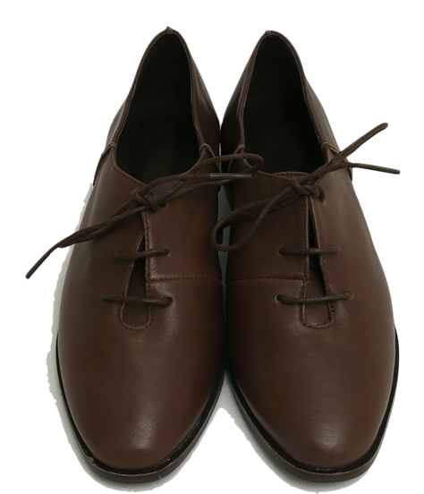 Sheep skin lace-up shoes_Y ローファー