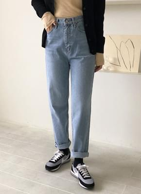 Sky brushed denim pants