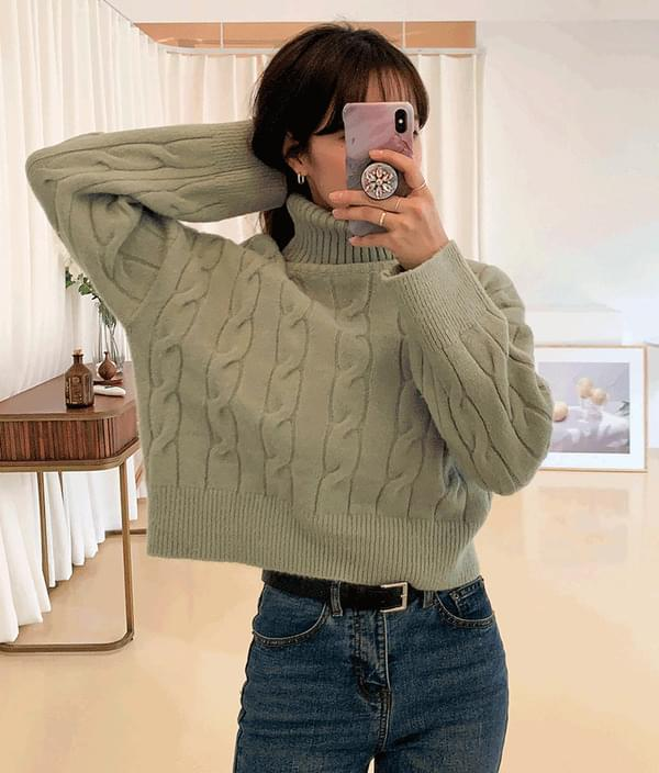 Twist cropped polar knit