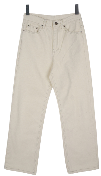 Nonspan straight pants