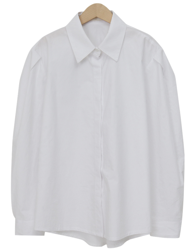 Pintuck shoulder cotton shirts_H (size : free)