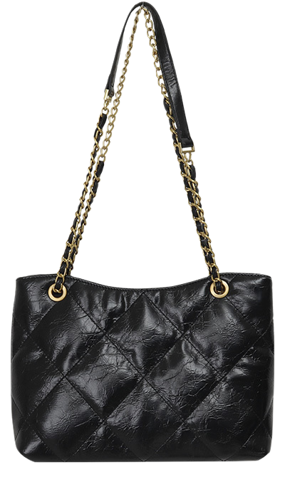 Gold chain shoulder bag_J