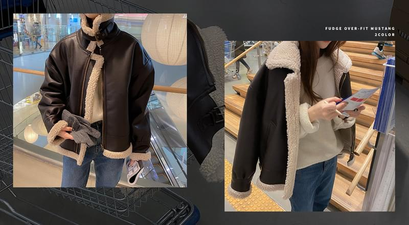 #made some fuzzy overfit Shearling 夾克外套