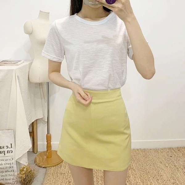 Pretzels colored mini skirt