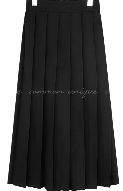 LIBELL PLEATS BANDING LONG SKIRT
