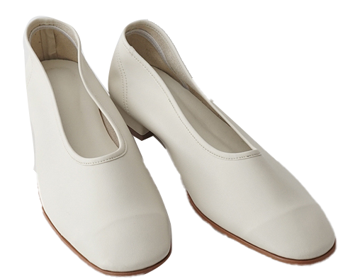 basic round middle flat shoes