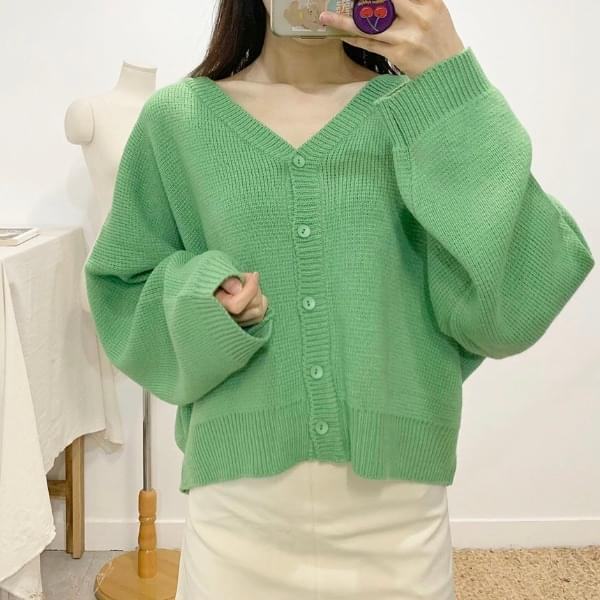 Leychen V-neck knit cardigan