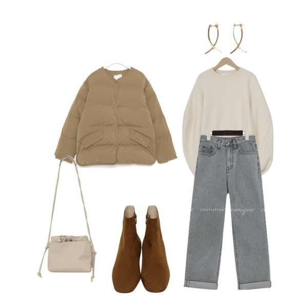 From Beginning Minimal suede walker_B (size : 225,230,235,240,245,250),AIN high stick earring,AIN bas slit wellon padding등을 매치한 코디