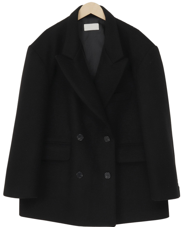 Double Overfit Wool Half Coat