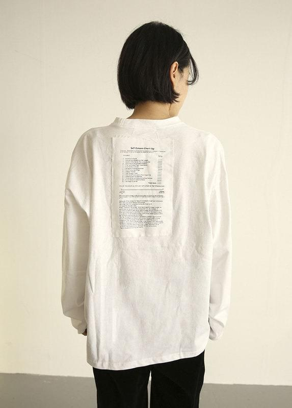 Self patch t-shirt Long Sleeve