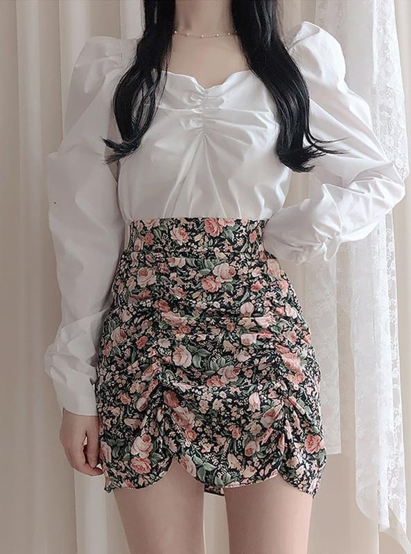 Class flower shearing skirt スカート