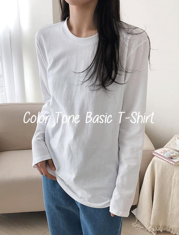 Color Tone Basic T-Shirt J