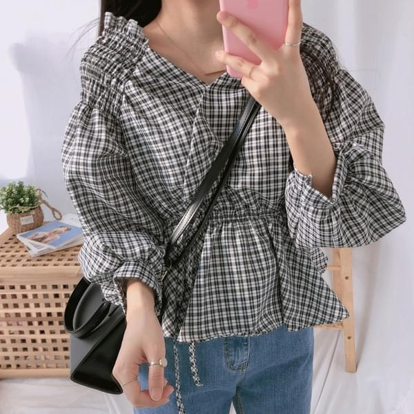 Off Shoulder Shirring Blouse