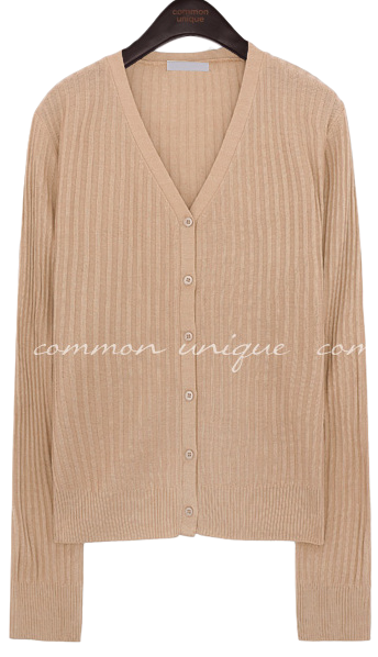 ELIVIN GOLGI V NECK KNIT CARDIGAN