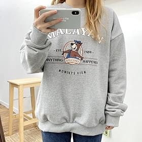 Ray Bear sweat shirt 長袖上衣