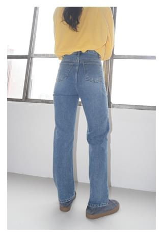 steady solid denim pants (2colors)