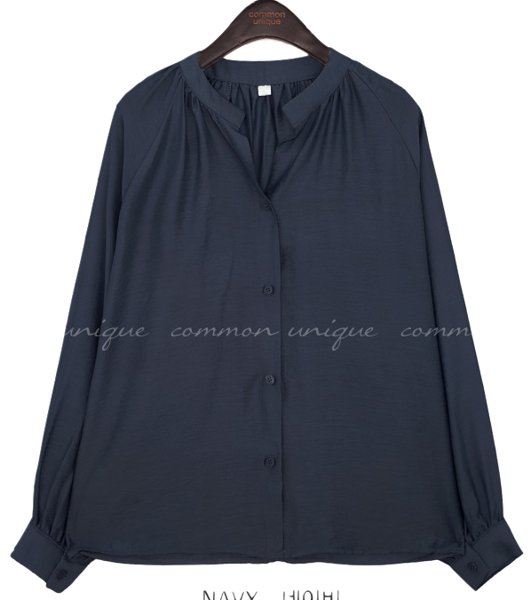 PRIME SILKY CHINA COLLAR BLOUSE