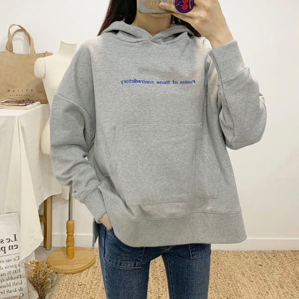 Purison Lettering Hooded T-shirt