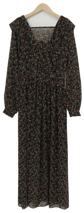 Frill floral long ops_A