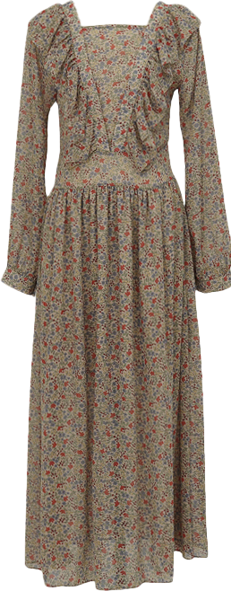 Frill floral long ops_A (size : free)