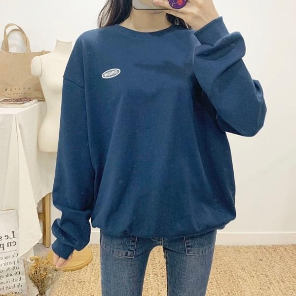 Recover lettering round neck sweat shirt