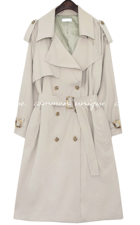 SORNY CUPRA DOUBLE TRENCH COAT