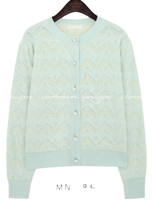 LOILY PUNCHING KNIT CARDIGAN