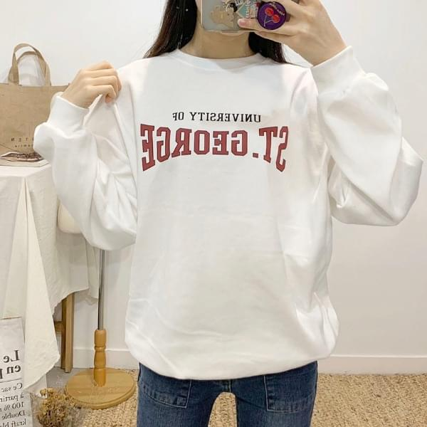ST Lettering Round Neck sweat shirt