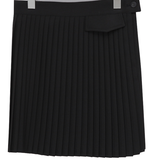 Slim pleats mini skirt_C (size : S,M)