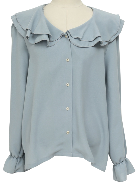 W frill collar blouse(RM) (size : free)