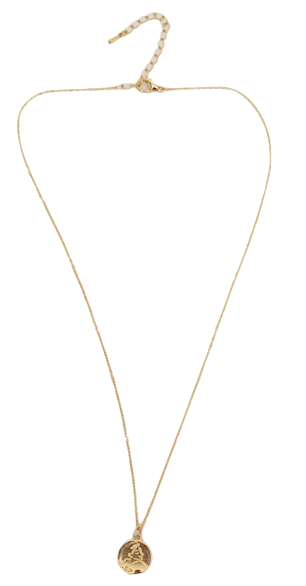 Minimal pendant necklace_H