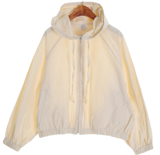 Cotton hooded wind jumper