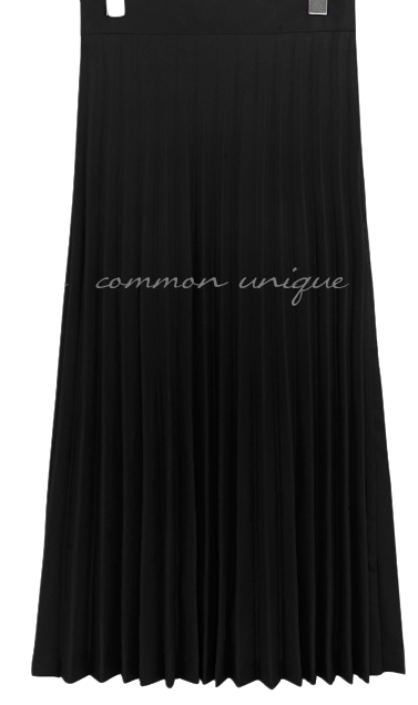 FLOD PLEATS BANDING LONG SKIRT