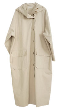 over-fit hood field coat